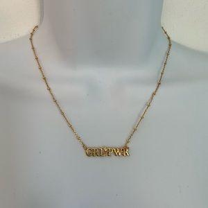Rebecca Minkoff Girl Power adjustable necklace